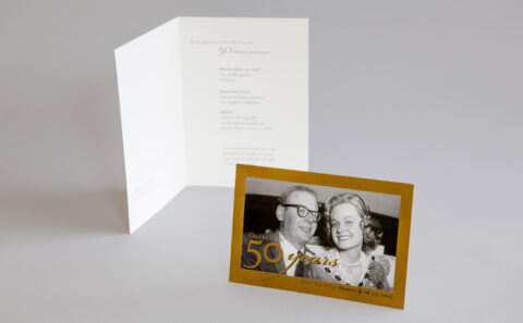 50th Anniversary Invitation and Save the Date card